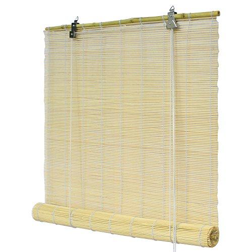 Flairdeco Bambusrollo freihängend, Bambus, Natur, 90 x 220 cm