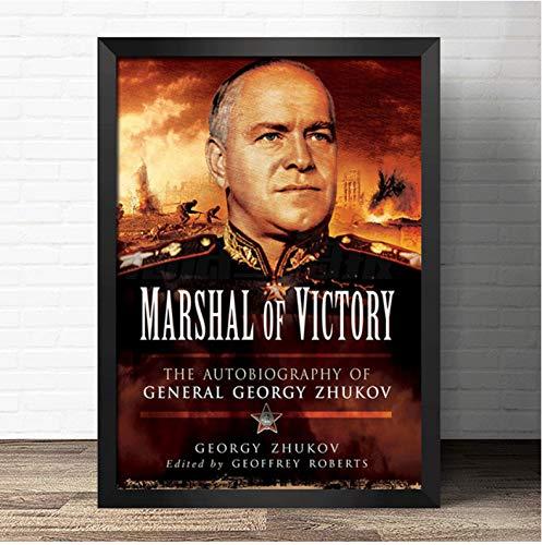 brandless Erster Weltkrieg General Der Sowjetunion Plakate Schukow Stalin Klassisches Bild Wandkunst Gemälde Raumdekor 40 × 60 cm Kein Rahmen