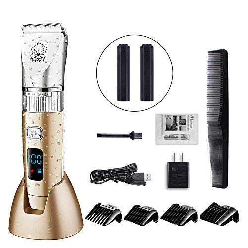 HATTEKER Dog Grooming Clippers Cordless Pet Hair Clippers Trimmer Waterproof Professional Gomming...