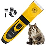 LIBSEX Tondeuse Chien Professionnel| Rechargeable sans Fil Tondeuse pour Chat Persan | Silencieuse Animaux Poil Electrique (5 Vitesses)| Pet Grooming Clippers for Dog & Cat