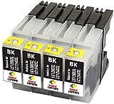 LC1280XL LC1240XL TONER EXPERTE® 4 Negro Cartuchos de Tinta compatibles con Brother MFC-J430W MFC-J5910DW MFC-J625DW MFC-J6510DW MFC-J6910DW MFC-J825DW DCP-J525W DCP-J725DW DCP-J925DW | Alta Capacidad