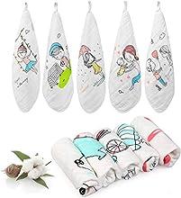 LEADSTAR Toalla Facial Infantil Muselinas Bebe Algodon Toallas de lavabo, 27 * 27 CM Accesorio de Bebé Pañuelo Para Niños (10 Piezas)