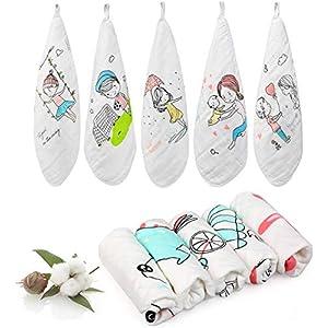 LEADSTAR Toalla Facial Infantil Muselinas Bebe Algodon Toallas de lavabo, 27 * 27 CM Accesorio de Bebé Pañuelo Para…