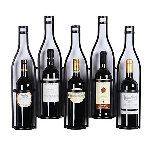 Hängendes Weinflaschen-Präsentationsregal, schwimmendes Regal aus Metall-Weinregal, Küchenbar-Weinregal-Präsentationsregal, wandmontierte Weinhalter-Heimdekoration-Schwarz_W25.5XD3.9XH20inch