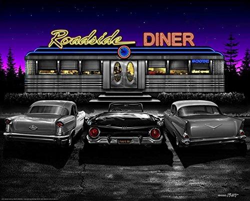 Feeling at home Imagen sobre Lienzo con Caja Americana Roadside Diner Flint...