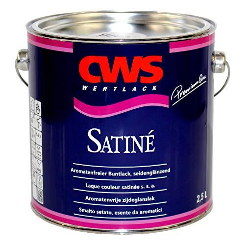 2,5L CWS Satiné Buntlack weiss seidenglänzend Holzlack Metallschutzlack