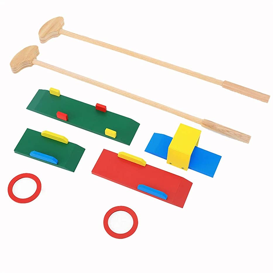 不信先駆者連帯ゴルフ玩具、 木製の子供のゴルフクラブのおもちゃセット屋内男の子の赤ちゃん幼稚園屋外フィットネススポーツのおもちゃ男の子女の子 - 身体的及び精神的発達を促進する キッズ屋内屋外ゲーム、 (色 : As picture, サイズ : 75*15*9cm)