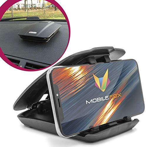 Preisvergleich Produktbild MOBILEFOX Auto Handy Halterung KFZ Armaturenbrett Klapp Halter PKW für Samsung Galaxy S20 S20+ Ultra S10 S10+ S10e S9 S8 S7 Plus Note 8 9 A8 A6 A5 A3 A10 A20 A50 A70 A80 M20