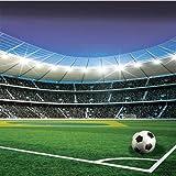 Fußball Stadion Sport- Forwall - Fototapete - Tapete - Fotomural - Mural Wandbild - (1914WM) - XXXL - 416cm x 254cm - VLIES (EasyInstall) - 4 Pieces