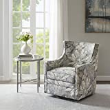 Madison Park Alana Swivel Chair - Solid Wood, Plywood, Metal Base Accent Armchair , Modern Contemporary Style, Floral...