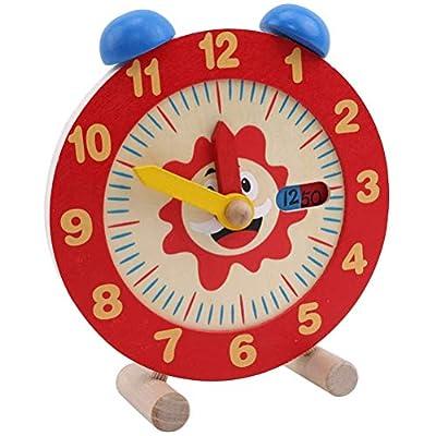Kenyaw Reloj Anual De Madera para Niños Que Aprende El Reloj con El Cual Su Hijo Puede Configurar Fácilmente El Reloj, El Reloj De Aprendizaje Enseñando Matemáticas Ayudando A Los Alumnos de Kenyaw
