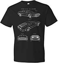 Patent Earth Delorean DMC-12 T-Shirt, Back to The Future, Car Collector, Automotive Engineer