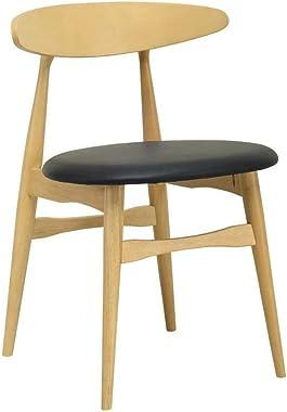 Telyn Dining Chair - Oak + Black
