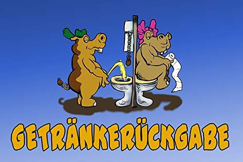 Schatzmix Mein Lieblingstier ist der Zapfhahn blechschild lustig Bier Comic