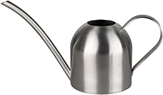 Ausering Stainless Steel Watering Can Round Sprinkling Pot with Long Mouth Flower Plant Gardening Supplies
