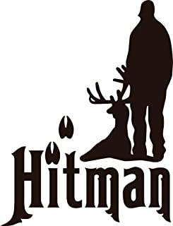 Hitman Animal Hunting Hunter Man With Gun picture Art – Boys Kids Bed Room Sports Hobby – Peel & Stick Sticker - Vinyl Wall Decal - DISCOUNTED SALE ITEM Size : 8 Inches X 12 Inches - 22 Colors Available