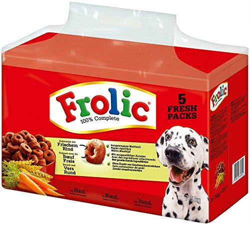 Frolic Hundefutter Trockenfutter mit Rind, Karotten und Getreide, 1 Karton (1 x 7,5 kg)