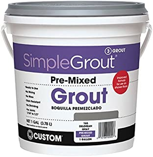 Custom PMG3811 1-Gallon Simple Premium Grout, Bright White,
