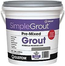 Custom PMG3811 1-Gallon Simple Premium Grout, Bright White,