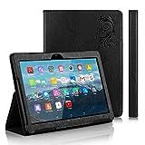 TOSICDO Case Coque étui pour Tablette Tactile 10.1 Pouces Compatible avec Tablet W109,K107,X104,X108 - Noir