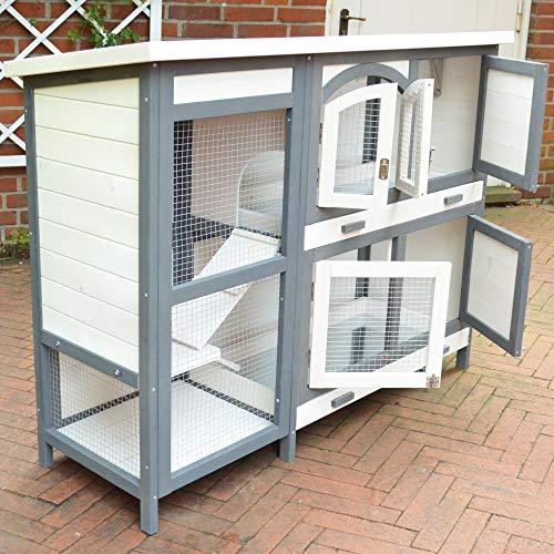 zooprinz brandneuer Hasenstall Krümmel 2020 - ideal für draußen, auch im Winter für Deine Lieblinge perfekt - Besonders einfach und schnell zu reinigen - Kleintierstall