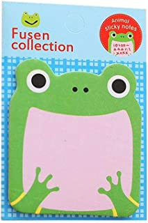 Sticky Notes, 16-Packs Self Sticky Notes in Different Shapes, Creative Self-Stick Notes Colorful Super Sticky Notes, Memo Notes for Students, Home, Office -Easy Post and Use (Animal) (frog)