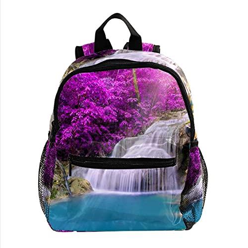 Mini mochila para computadora portátil para mujer, bolsa de viaje Parrot Cascada tropical para el trabajo, escuela, al aire libre