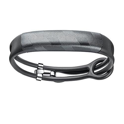 Jawbone UP2 Bluetooth Aktivitäts-/Schlaftracker-Armband (für Apple iOS und Android) gunmetal hex