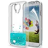LeYi Coque Galaxy S4 Etui avec Film de Protection écran, Fille Personnalisé Liquide...