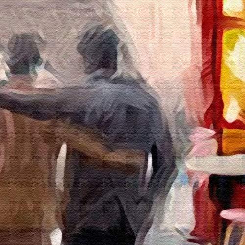 Msrahves papel pintado pared dormitorio Europa detective de hierro vista a la calle pintado Fotomurales 3D Foto-Mural Simplicidad Moderna Sala De Estar Dormitorio Oficina Tv Fondo Pared Decoración Fot
