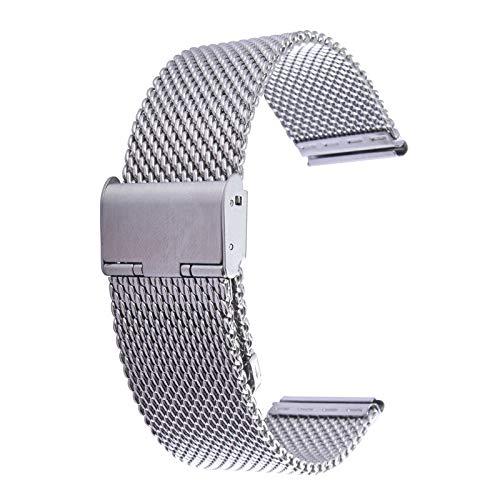 Armband Band voor Apple Horloge 42mm Milanese Klassieke Gesp RVS Horlogeband Vervanging, Alleen Gebruikt in Combinatie met Connectors (S-AW-3293) Eenvoudige