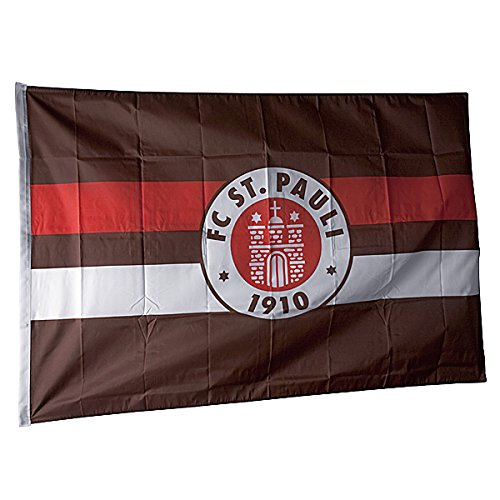 St Pauli Fahne - rot/weiß/braun - eine Größe