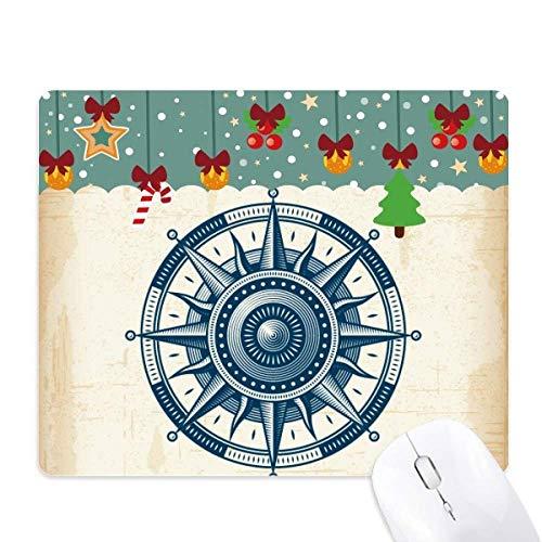 Tappetino per mouse con bussola esplorazione militare oceano, tappetino da ufficio natalizio in gomma