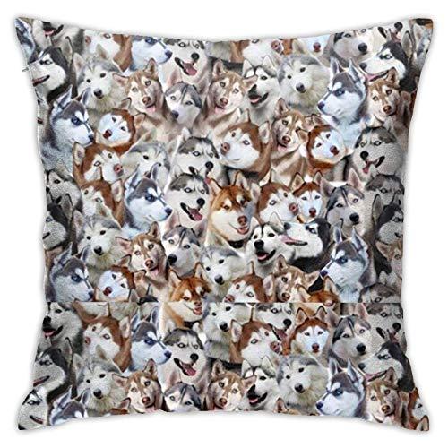 lymknumb Siberian Husky - Funda de almohada para sofá o coche (45 x 45 cm)