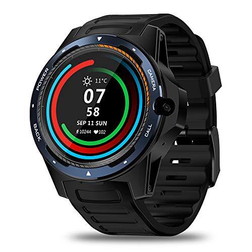 Zeblaze THOR 5 4G LTE Smart Watch Android 7.1.1 2GB + 16GB 1.39 AMOLED Schermo 454 * 454 Dual Chips Modalità Sistema 8.0MP Fotocamera Smart Orologio da polso GPS GLONASS Beidou Nano SIM WiFi