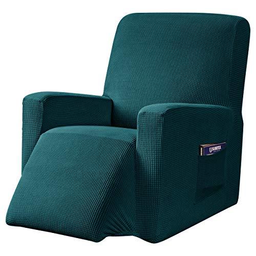 subrtex 1 Pièce Housse de Fauteuil Relax Extensible 1 Place Fauteuil Relax Protecteur (Bleu Vert)