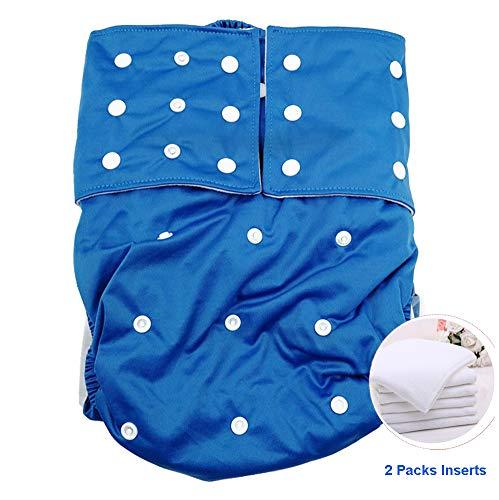 Jolie Diapers Windeln für Erwachsene ABDL Unterwäsche Wiederverwendbar Stoffwindel für Frauen und Männer Besondere Bedürfnisse Inkontinenz-Schutzhose,Deepblue