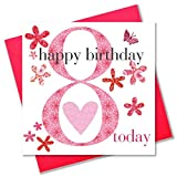 Claire Giles Ages Age 8 Girl Birthday Card
