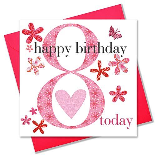 Claire Giles-Biglietto Di Auguri Per Compleanno, Per Bambina, Età: 8 Anni