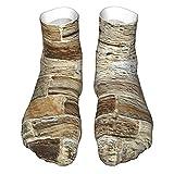 OUYouDeFangA Sandstone Ladrillo Pared Calcetines Adultos Algodón Lindo Calcetines Cortos Para Yoga Senderismo Ciclismo Correr Deportes