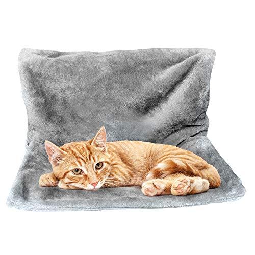 LQKYWNA Cat Cradle Hammock, Colgante para Mascotas, Cama De Radiador Suave Y Esponjosa con Una Cómoda Funda De Felpa Y Un Fuerte Marco De Metal Plegable
