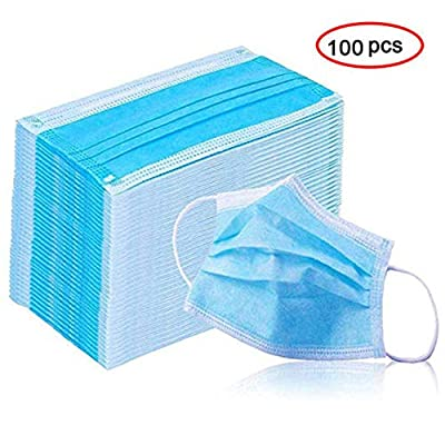 Disposable 100 PCS Filter 3-ply Face Mask Disposable Guard tool Surgical masque anti pollution Personal Protection Dust-Proof Anti Spittle Eye Mask