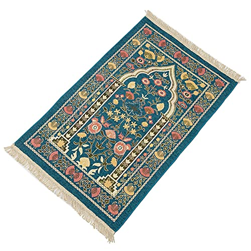 Muslim Prayer Rug - Prayer Mat Muslim for Men-Islam Carpet Women - Sajadah - Turkish Design Portable Prayer Mat