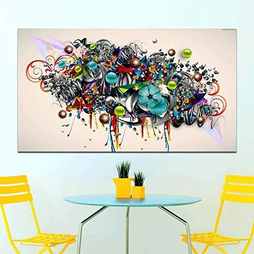 YYTTLL Puzzle 1000 Teile Holzpuzzle Abstraktes Gekritzel, Blüte, Blumen Puzzle Geschicklichkeitsspiel Für Die Ganze Familie, Farbenfrohes Platzierungsspiel