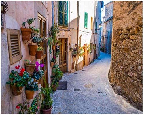 Góndolas en frente de doge s Venecia Italia Rosa Mediterráneo Kits de pintura por números para adultos, niños, bricolaje, cuadro de arte de pared, lienzo enmarcado, pintura al óleo