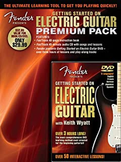 Fender Presents: Getting Started On Electric Guitar Premium Pack (Book CD & DVD Premier