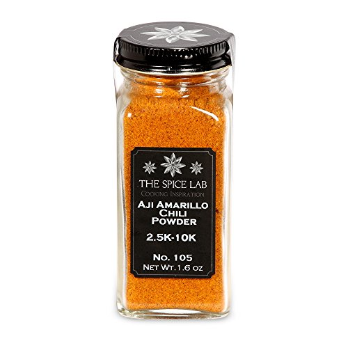 "The Spice Lab No. 105 - Aji Amarillo Chile Powder ""yellow chili pepper"" Peruvian Chili Pepper- Kosher Gluten-Free Non-GMO All Natural Spice - French Jar"