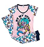 Superhero - Pijama para mujer, camiseta y pantalón largo, algodón Los Vengadores Be My Hero. 38-40