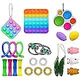 Zarome Pack Sensory Fidget Toys Set Paquete de Juguetes Sensoriales Kit de Juguetes Antiestrés para Terapia sensorial para ADHD Autismo Effectual