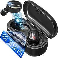 Bluetooth ワイヤレスイヤホン LEDディスプレイイヤホン Hi-Fi 高音質 最新Bluetooth5.0+EDR搭載 3Dステレオサウンド 完全ワイヤレス イヤホン 自動ペアリング ブルートゥース イヤホン AAC対応...